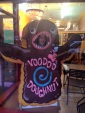 Author friend (Zombie) Jess Holmes at Voodoo Doughnuts in Eugene, OR